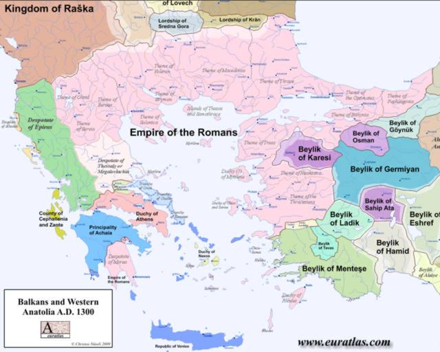 Cliquez ici pour télécharger Balkans et Anatolie occidentale en 1300
