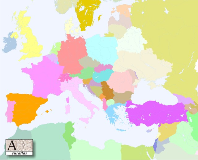 Click to download the Europe Countries 2005 Blank Color