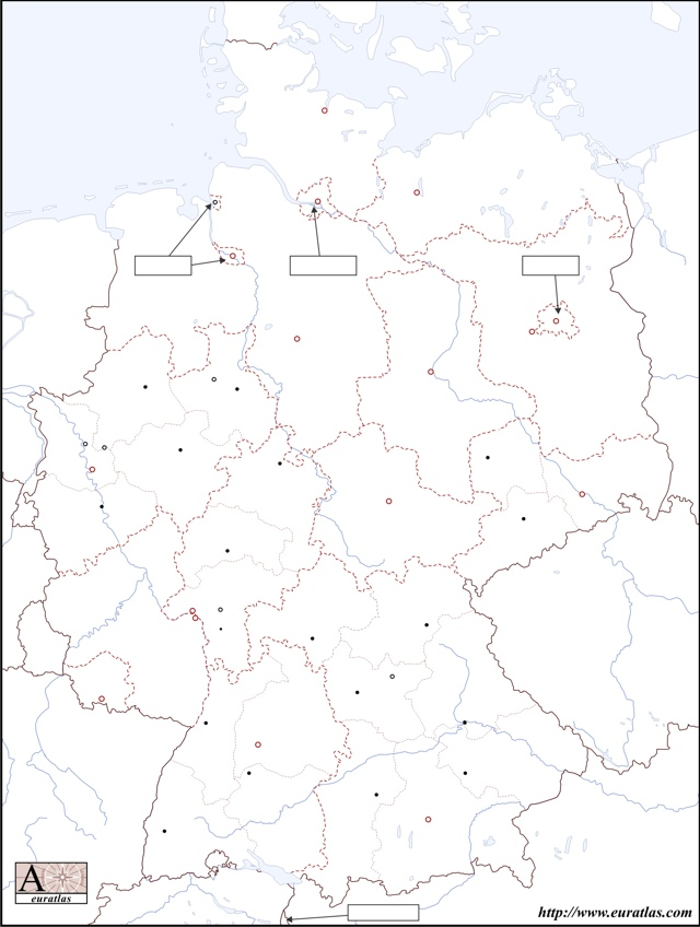 Click to download the States of Germany, Blank, Color