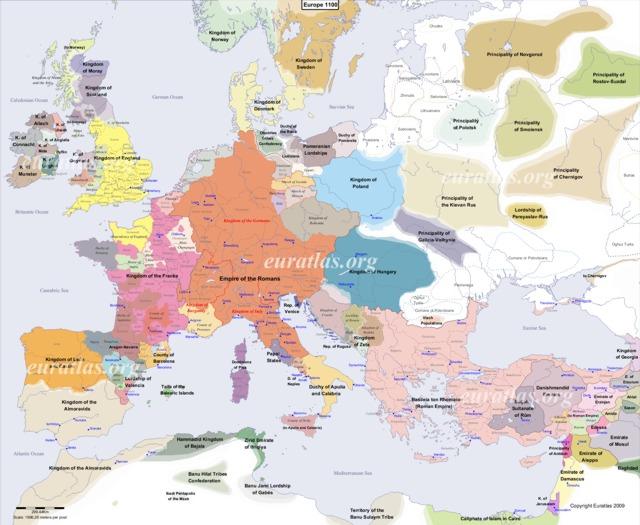 Cliquez ici pour télécharger L'Europe en l'an 1100, EN