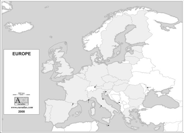 Click to download the Europe and E.U. 2008 Blank Grey