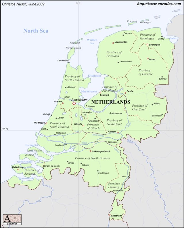 Click to download the Netherlands 2009, Labeled, Color