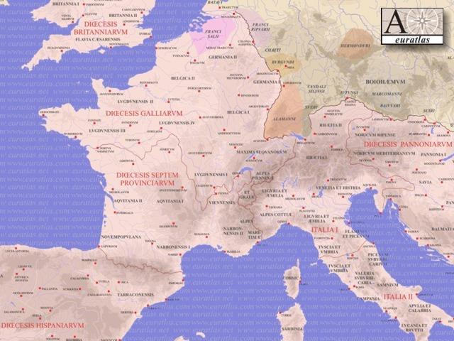 Klicken Sie auf das Römische Reich, Northwest, AD 400 herunterladen