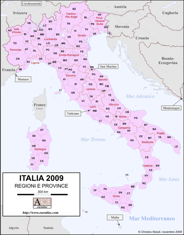 Click to download the Italy 2009, Labeled, Color